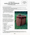 """Willow Backpack"" pattern by Bonnie Gale"